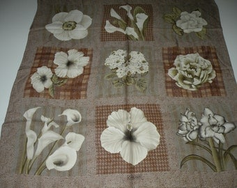 20% off CARLISLE floral flowers silk scarf square