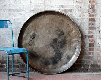 Large Metal Serving Platter Serving Tray Industrial Magnet Board Vintage Indian Food Tray Metal Pan Wall art Paella Pan