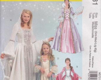 Princess Dress Costume Pattern Fairy Godmother Uncut Misses Size 8 - 22 S - XL McCalls 5731