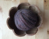 Wool roving supply for needle felting, Rainbow Opal Brown (darker), 1/2 ounce or 1 ounce, brown felting wool, brown wool roving, DIY felting