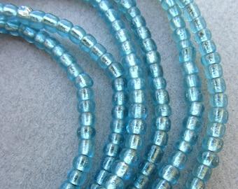 Blue Glass Beads -2 Strands