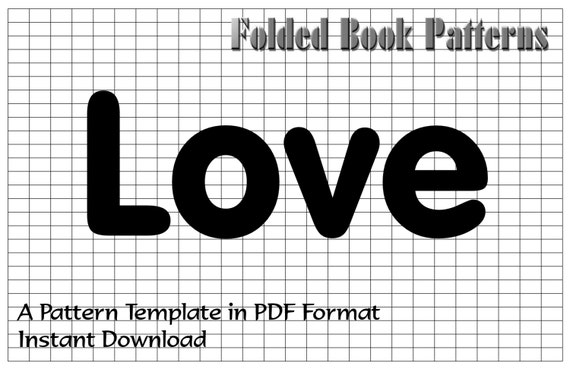 Items similar to home decor folded book art pattern template items similar to home decor folded book art pattern template tutorial on etsy pronofoot35fo Choice Image