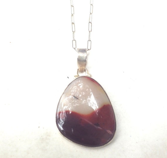 Mookaite Jasper and Sterling Silver Necklace