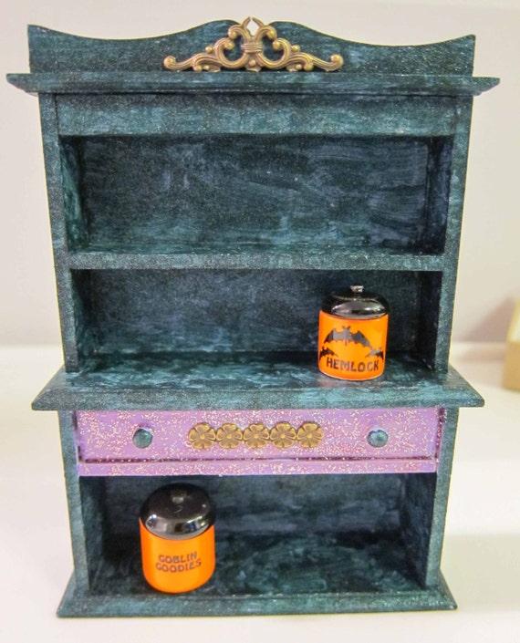 Dollhouse Miniature Halloween Furniture OOAK 1:12th Scale