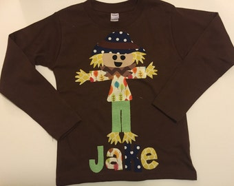 Scarecrow Fall Shirt - Personalized Fall Shirt - Great for Fall Photo Shoot or Family Pictures
