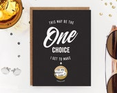 "Scratch-off ""Be My Groomsman"" / ""Be My Best Man"" Invitation // One Choice"