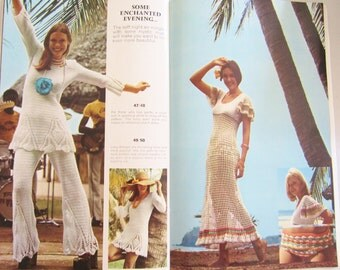 MON TRICOT Knitting & Crochet Spring Summer 1973 Wedding Dress, Swimwear