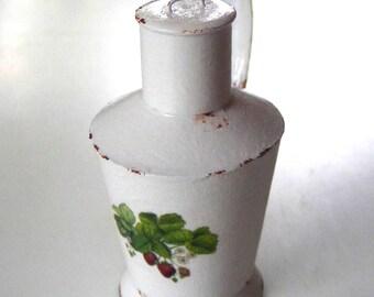 White enamel water can