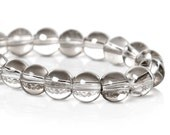 Smoky Gunmetal Glass Beads 6mm With a Metallic Sheen One Strand- 105 beads- BD826