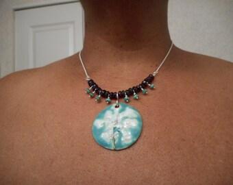 Queen Anne's Lace Pendant Necklace,