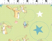 Bunnies Light Olive Guess How Much I Love You 2 Anita Jeram One Yard