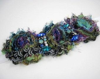 Boho maternity sash - chiffon flower sash - bridal sash - floral sash - bohemian wedding - wedding accessories