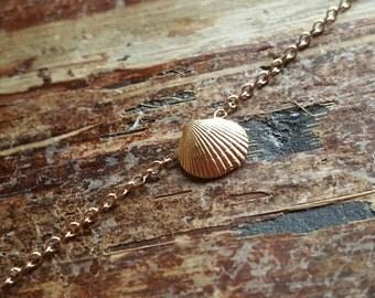 Anklet Seashell Anklet Ankle Bracelet Anklets 14K Gold Ankle Bracelet Womens Gold Anklet Beach Jewelry Girlfriend Gift 14K Pink Gold Anklet