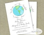 Welcome to the World Invitation |  Baby Shower Invitation | Instant Download | Editable Text PDF that You Edit Yourself in Adobe Reader