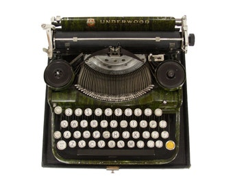GREEN Underwood 4 Bank Typewriter - EXCELLENT Working Condition - FREE Domestic Shipping