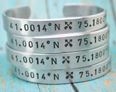 SET of 12 CUSTOM Personalized Bracelets Hand Stamped Cuff Aluminum Several Sizes Made To Order Lots of Fonts and Design Stamp Choices
