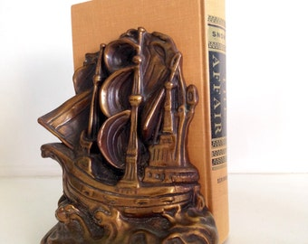 This Ship Has Sailed - Cast Iron Ship Ships Bookend