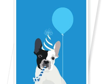 French Bulldog Frenchie - Funny Birthday Cards - D212