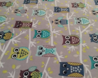 Owls On Branches Fleece Blanket