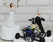 ATV Four wheel rider custom wedding cake topper Decoration