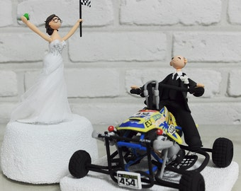 ATV Four wheel rider custom wedding cake topper Decoration