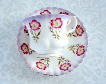 Vintage Royal Albert Tea Cup and Saucer  /  Vintage Royal Albert Pansy Pattern 4469 Bone China  /  Lavender Royal Albert Cup and Saucer Set