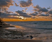 Sunset on Lake Superior at Hurricane River, Pictured Rocks National Lakeshore  color print