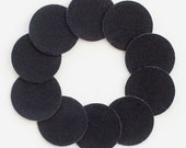 "1 1/4"" Black Adhesive Felt Circles 10 Pack"