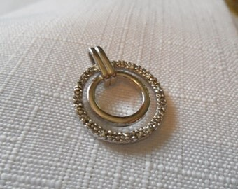 Vintage Sterling Silver Diamond Accent Pendant