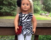 Animal Print doll Top and Leggings with Purse to fit 18 Inch Doll like American Girl, Christmas gift, girls gift girl toys