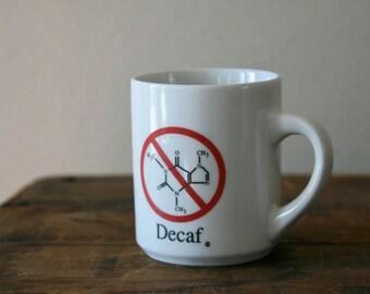 Vintage Retro Mug,Decaf,Chemistry,Science,Laboratory