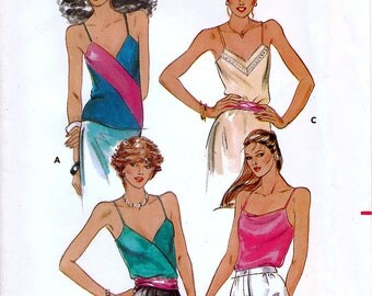 Butterick 3158 Vintage 80s Misses' Tops Sewing Pattern - Uncut - Size 16