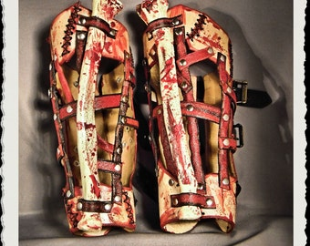Leather bracers  - Flayed -