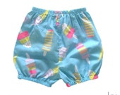 Baby Girl Bloomer- Bubble Shorts- Cute Popsicle Print - Summer Pants