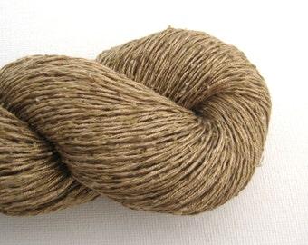 Fingering 100% Silk Recycled Yarn, Ecru, Lot 160315