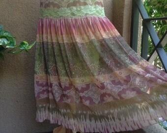 MEDIUM, Bohemian Gypsy Hippie Skirt