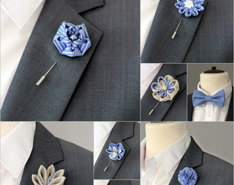 1 flower lapel pin, Mens lapel flower Boutonniere, Lapel Flower pin, rose boutonniere, flower lapel pin, mens gift, pocket square, bow tie