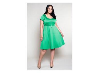 Empire Waist Dress Ponte 4 Lengths Customizable Misses & Plus Sizes 2-28