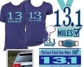 Half marathon gift - Half marathon shirts - Half marathon tank - 13.1  Half marathon sticker  Half marathon jewelry  Half marathon key chain
