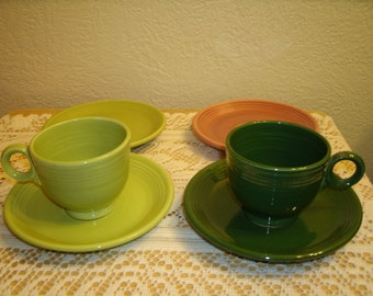 Vintage Fiesta Cups and Saucers