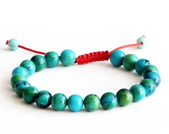 8mm Stone Beads Length Adjustable Bracelet  T2835