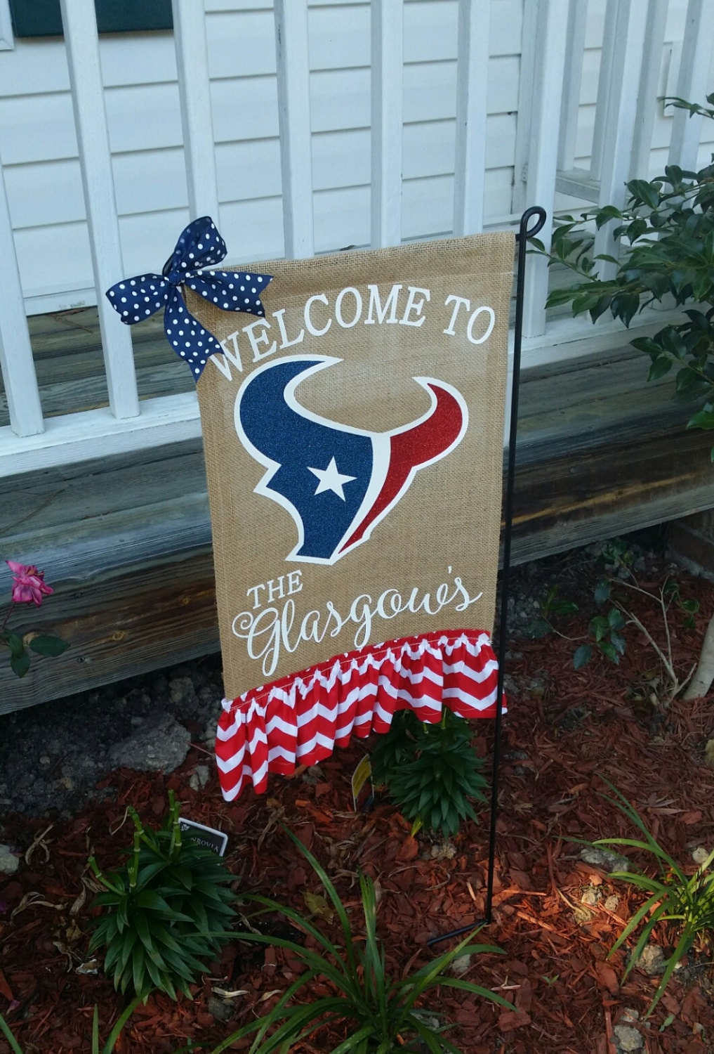 Football garden flag Etsy