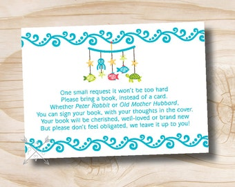 INSTANT DOWNLOAD Underwater Under the Sea Baby Mobile Book Card