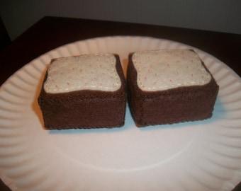 Felt Brownies playfood