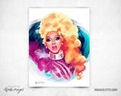 Rupaul Color  - 8x11 Print
