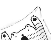 Black Bear Cushion, cover only