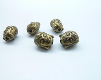 20pcs 8x9x11mm Antique Bronze Buddha Charm ,Bead ,Spacer C8032