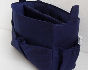 Taller Purse organizer in Dark Navy blue fabric