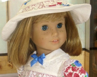 18 Inch Doll Clothes for American Girl Dolls - A School Dress and Hat for Molly or Emily