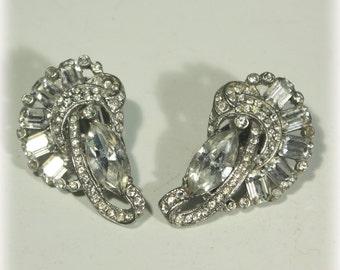 Rhinestone Earrings, Dressy Earrings, Evening Earrings, Wedding Earrings